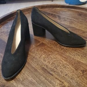 COS black suede Chunky heels in Size 41